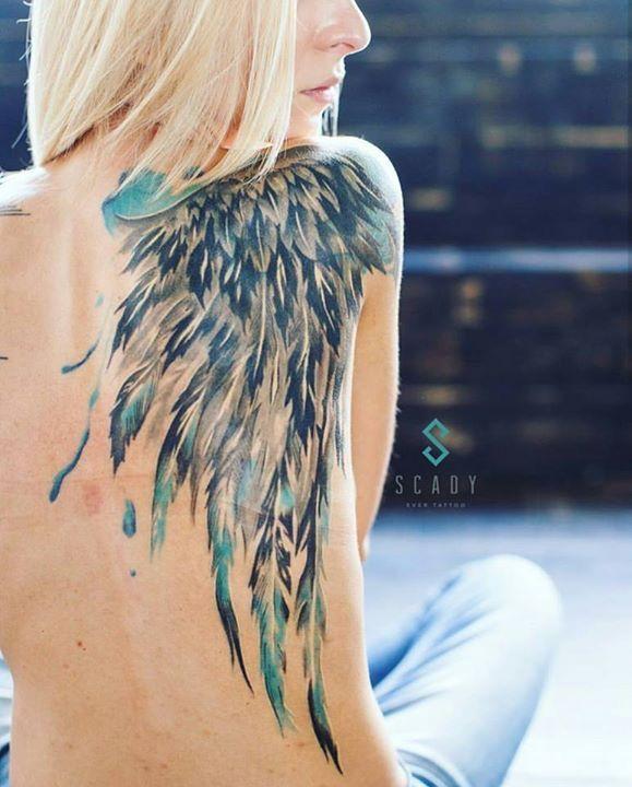 Тату крылья1