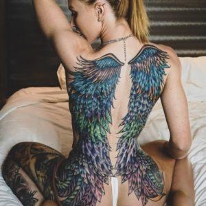 Тату крылья11