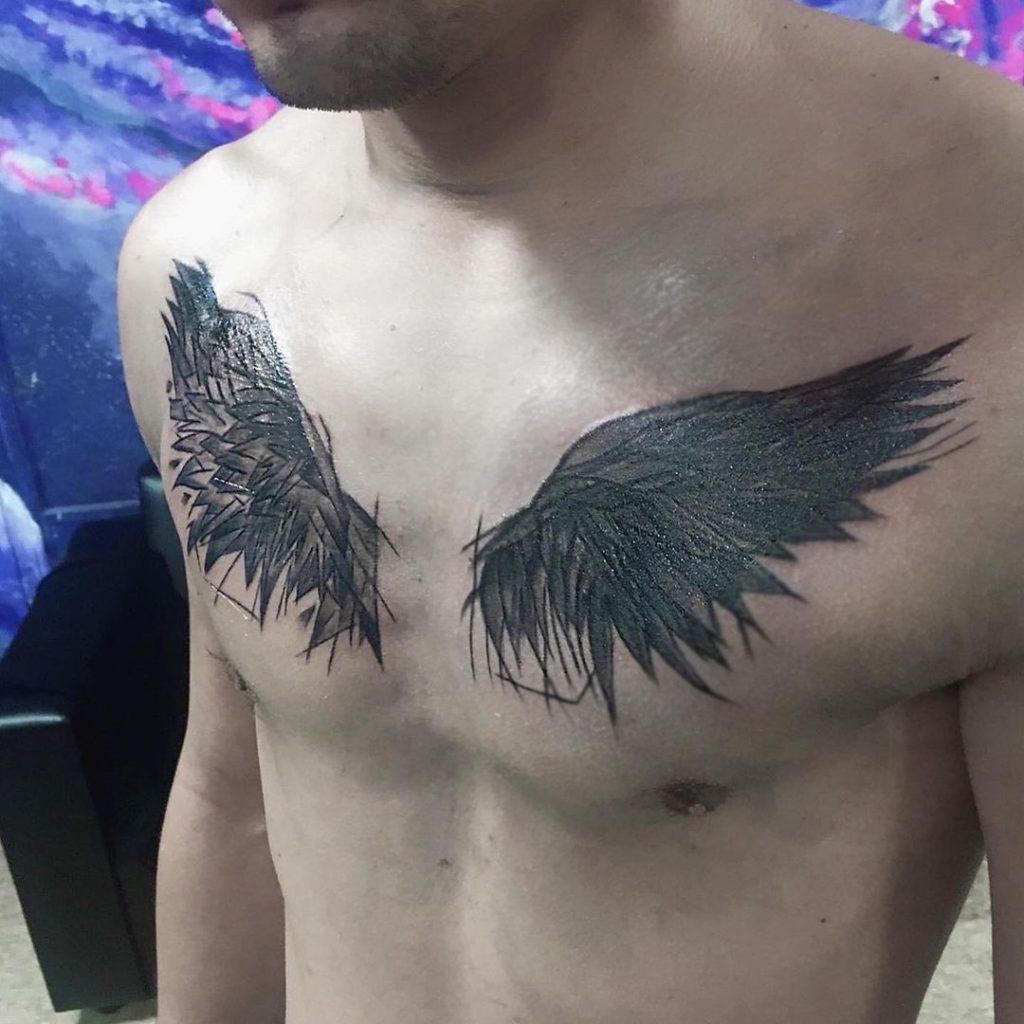 Тату крылья15