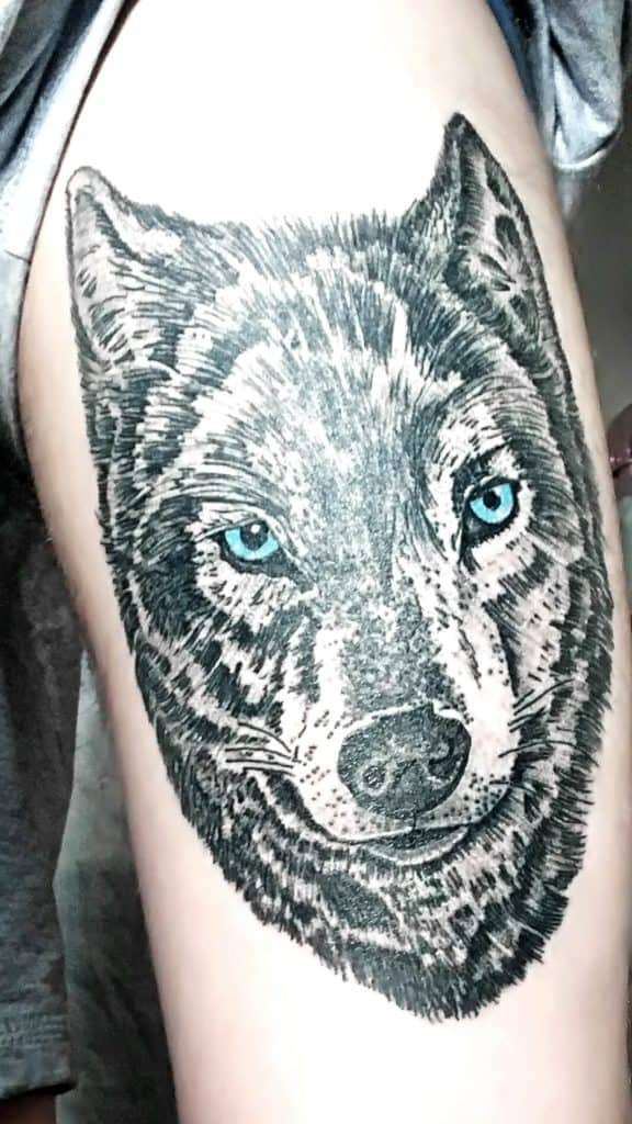 тату волк 7